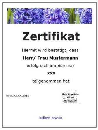 Heiler und Lebensberater Kurse Zertifikat
